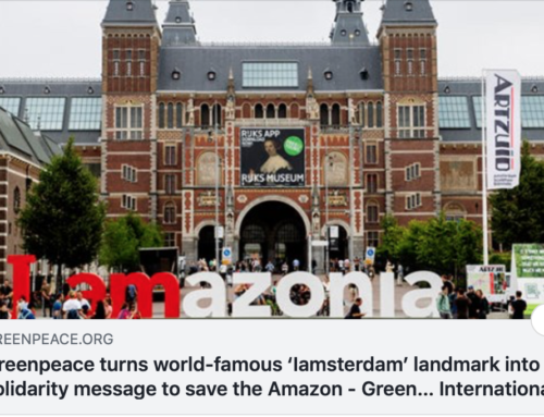 "Greenpeace and the ""Iamazonia"" sign"