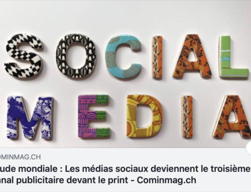 Les médias sociaux deviennent le troisième canal publicitaire